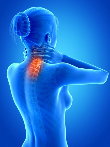 Neck pain spreading to back of head